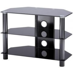 Alphason ESS800/3-BLK Black Glass TV Stand