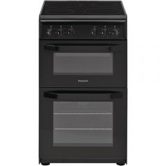 Hotpoint HD5V92KCB 50Cm Electric Cooker With Cermaic Hob