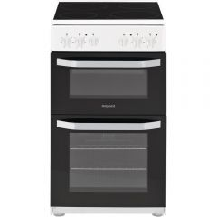 Hotpoint HD5V92KCW 50Cm Electric Cooker With Ceramic Hob