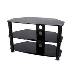 Vivanco BRISA1000B 1000Mm Black Glass TV Stand