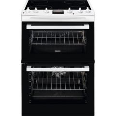 Zanussi ZCV66078WA 60Cm Electric Cooker With Ceramic Hob